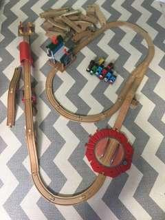 Thomas and friends wood rail set