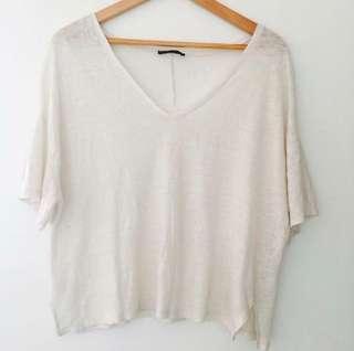 Zara Basic Oversized White Top