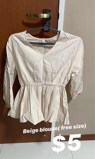 🚚 Beige boho blouse