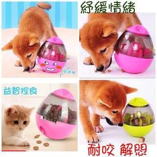 🚚 現貨 寵物益智玩具 趣味餵食球 漏食器 漏食球