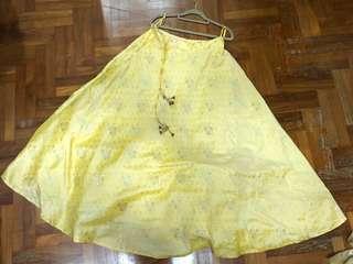 Yellow Lehenga skirt