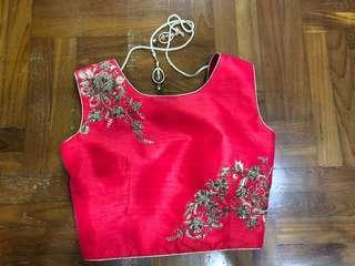 Ready Made Red Lehenga top