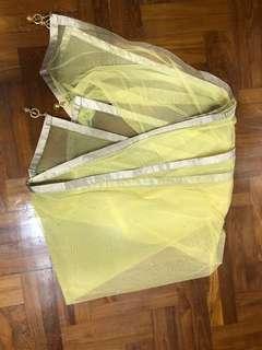 Yellow Lehenga shawl