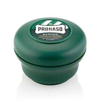 (2 for $26) Proraso Green Shaving Soap with Eucalyptus Oil and Menthol 150ml