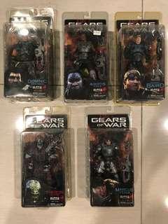 NECA Gears of War Action Figures 6 Inch Set of 5