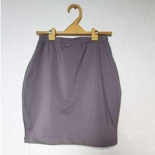 Tube mini skirt in gray