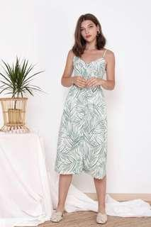 The Willow Label Moira Palm Leaves Midi