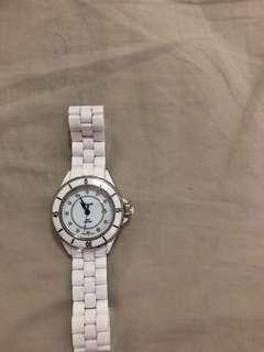 🚚 二手standel(詩丹麗)白色陶瓷手錶