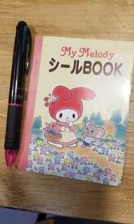 全新1996年絕版My Melody 貼紙簿 sanrio