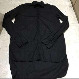 🚚 Authentic Brand New Zara Man Black Shirt with Uneven Hem