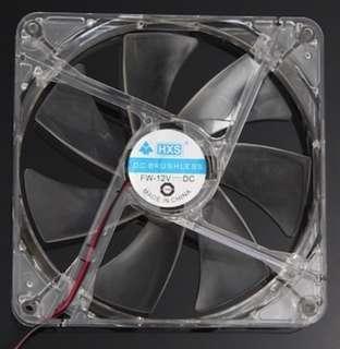 LED Light CPU Cooling Fan Computer PC Clear Case Quad 14CM Heatsink