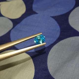 淺藍 裸石 鋯石 Zircon
