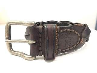Genuine Abercrombie & Fitch Braided Leather Belt