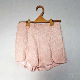 Lacey peach shorts