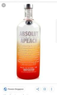 🚚 Absolute Vodka - Peach