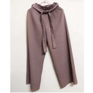 🚚 藕色寬褲