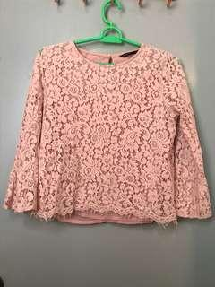 Padini Pink Lace Top