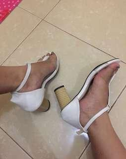 📌SALE heels white transparan
