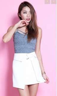 BNIBWT topazette D Ring Skirt in white