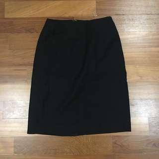 G2000 black office pencil skirt #FEBP55