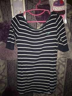 U back blouse Stripe