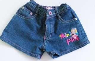 50! Denim shorts fits 18 to 24 months!