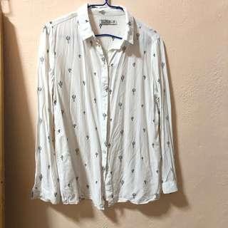 White Cactus button up Shirt