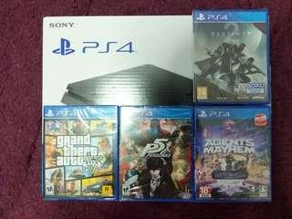 PS4 Slim 500GB 4 Games Bundle Set *Worth Over $500 in Value! (Brand New Local Warranty Set)