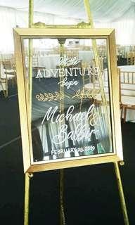 Wedding Welcome Sign Board | Handwritten | Calligraphy Service | Calligraphy | Wedding | Wedding Board