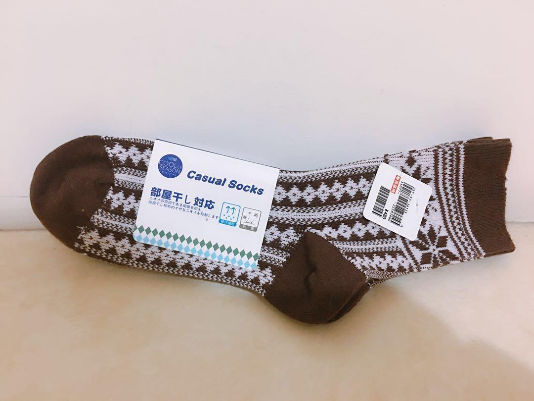 《全新》日本保暖襪 抗菌襪 毛襪(2雙入)