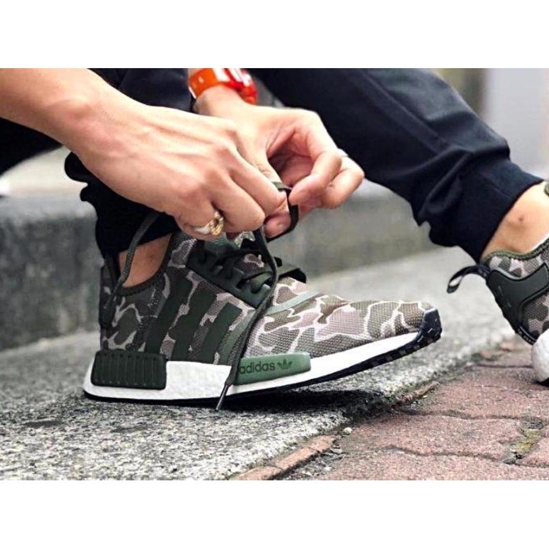 f1313bc377380 Adidas Originals NMD R1   Camo Green   B96617