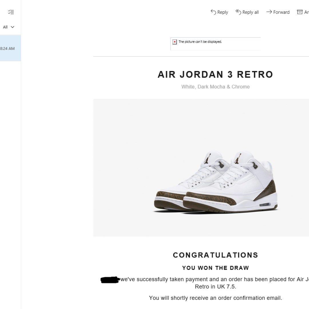 80d671702aa016 Air Jordan 3 Mocha US 8.5