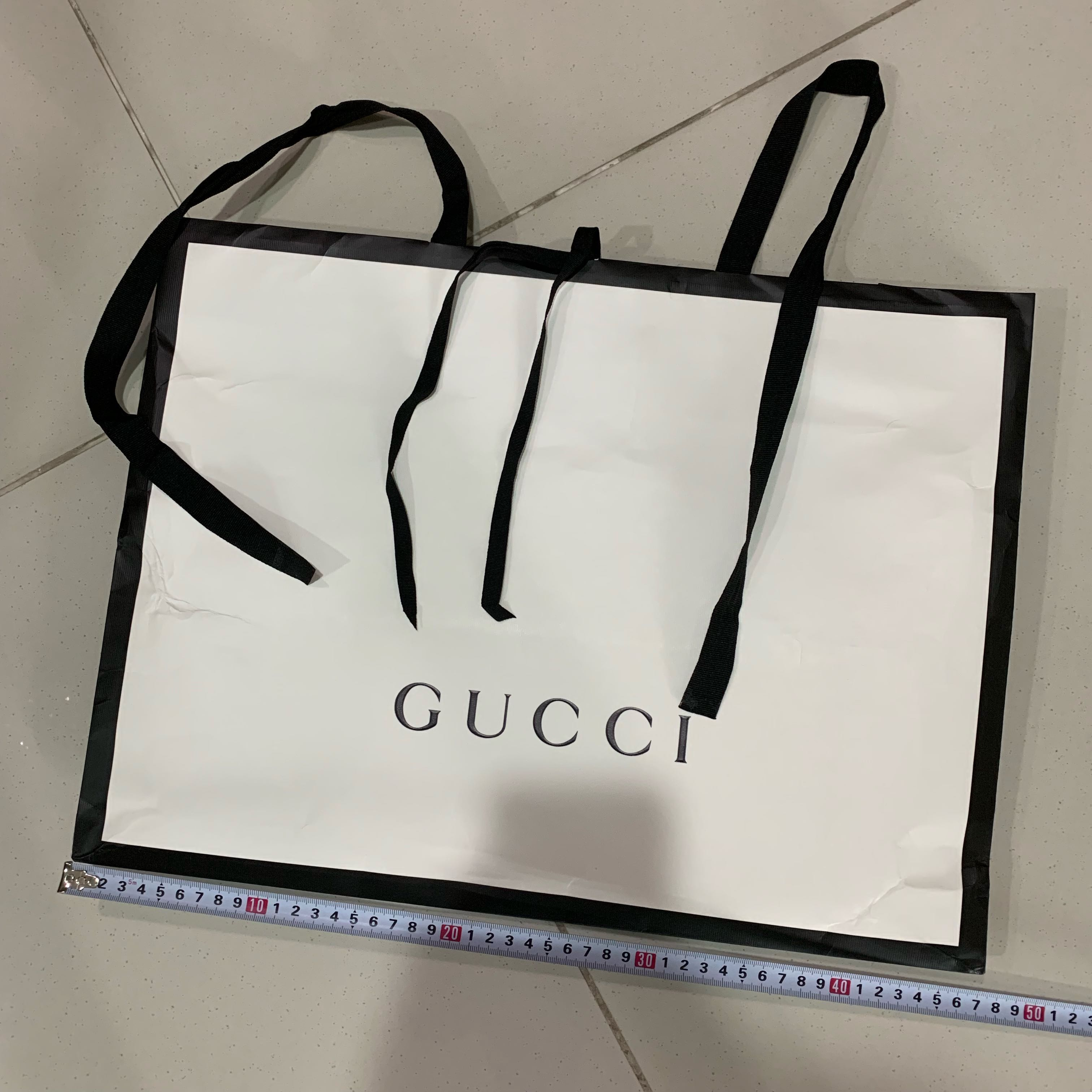 """e7b66737ef75 Authentic Gucci paper bag """"LARGE"""" size, Luxury, Accessories, Others on  Carousell"""