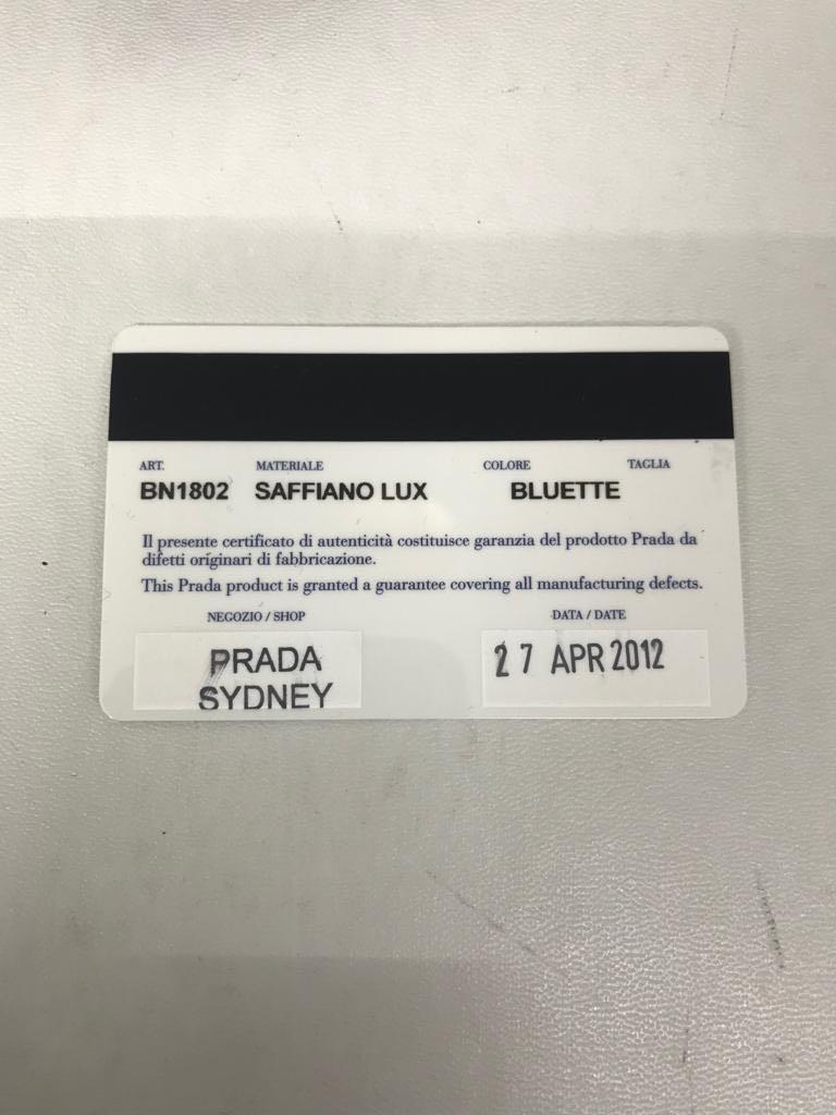 AUTHENTIC PRELOVED PRADA SAFFIANO LARGE 2012