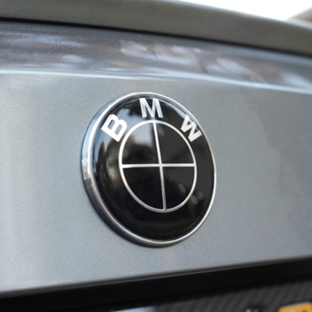 Brand New Bmw Boot Emblem 74mm Black Car Accessories Accessories On Carousell