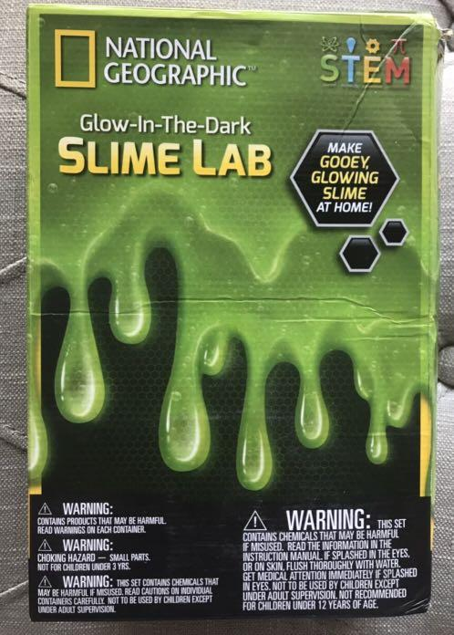 Brand New National Geographic Slime DIY Science Lab – Make Glowing Slime