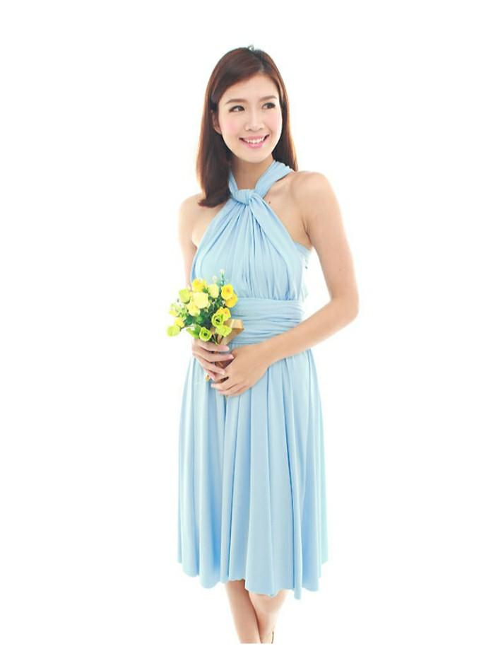 Convertible Classic Dress in Pastel Blue