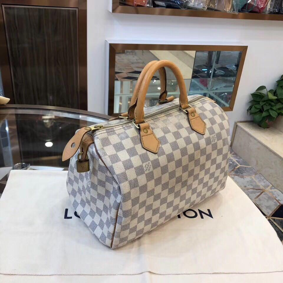 【DEAL OF THE DAY】Authentic Pre-loved Louis Vuitton Speedy 30 Damier Azur Canvas