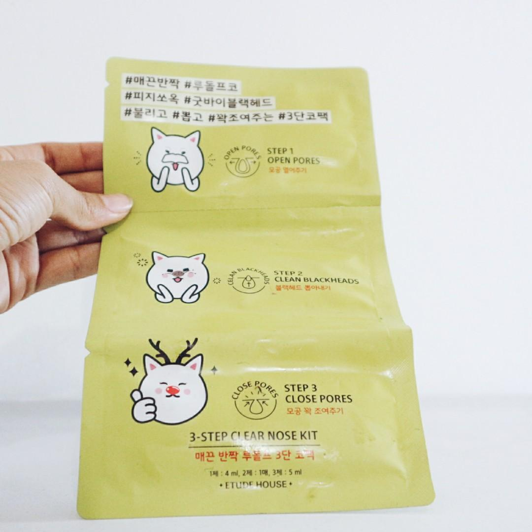 Etude House Lemon Soda Blackhead and 3 Step Clean Pores Kit