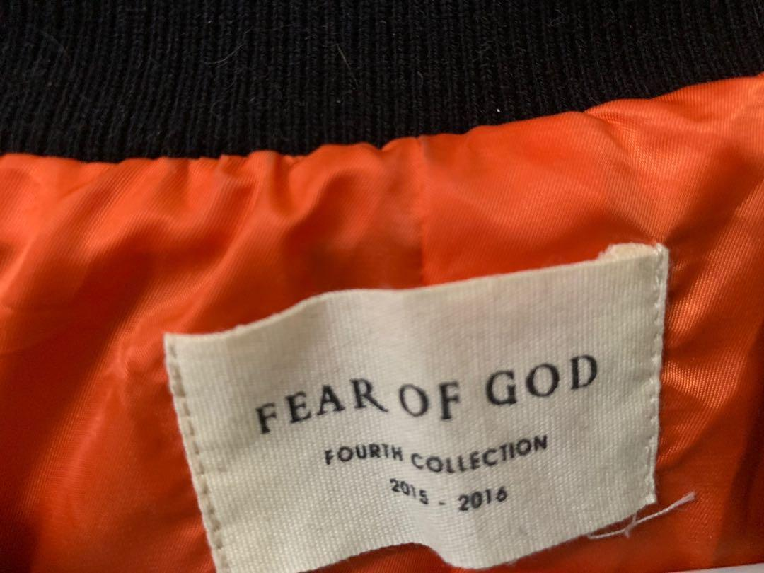 FEAR OF GOD - Fourth Collection Bomber Jacket (Blk)