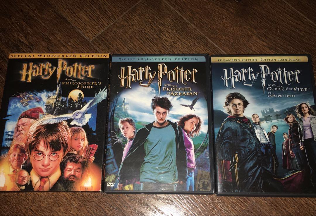 Harry Potter 1 & 3 & 4 DVDs