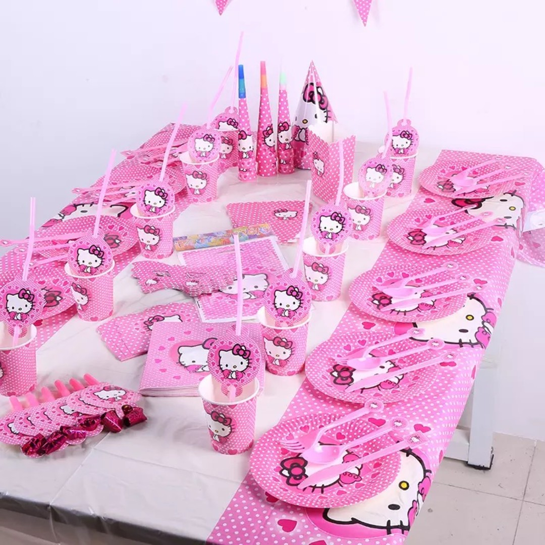 Hello Kitty Birthday Party Set Design Craft Art Prints On