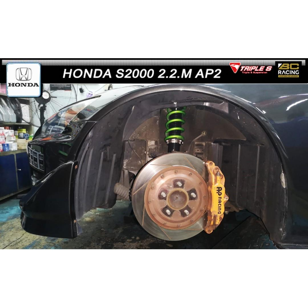 HONDA S2000 2.2.M AP2 ( BC RACING COILOVER / TRIPLE S SPRINGS ).