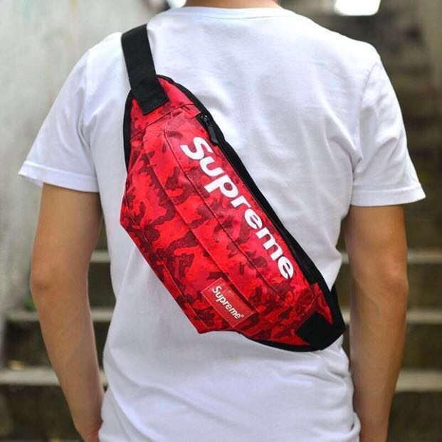 43f40b6dccc8 INSTOCKS SUPREME FANNY PACK WAIST BAG IN RED