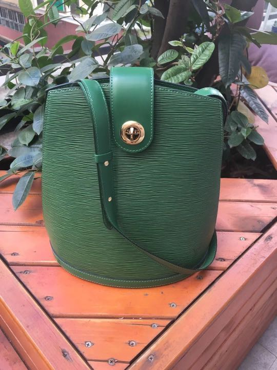 LOUIS VUITTON BAG LV GREEN EPI CLUNY SHOULDER BAG 31616cd21d658