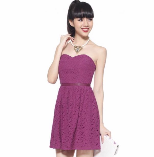 75b7a5d6101 Love Bonito Larysa Lace Dress in Fuschia