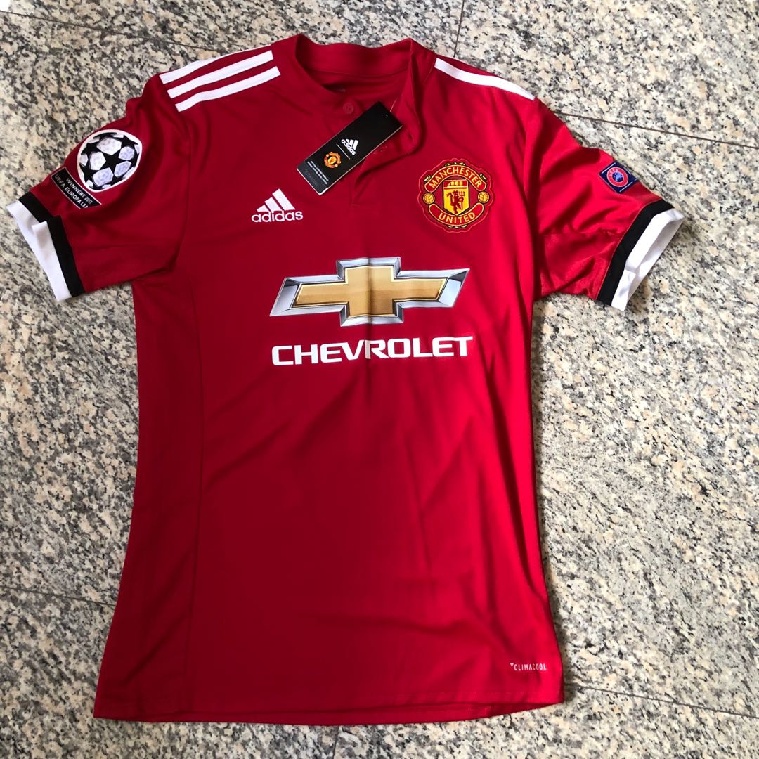 35278d54d Manchester United 2018 Champions League Home Jersey