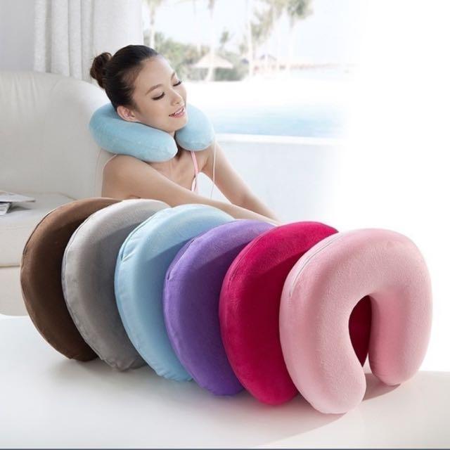 Memory Foam Pillow Neck U Shape U Shaped Headrest Car Flight Travel Soft Nursing Cushion