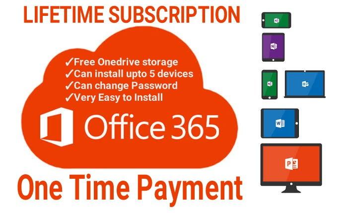 Microsoft Office Lifetime subscription