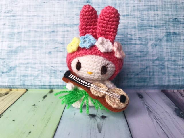 My Melody Handmade Crochet Doll Bouquet Topper Design Craft